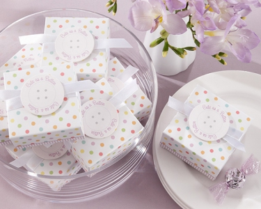 "WPB2050 Personalized ""Cute As A Button"" Favor Boxes - As low as RM0.75/ pc"