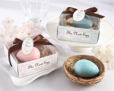 "WSS2012-1  ""The Nest Egg"" Blue Baby Soap Favor - As Low As RM1.80 /Pc"