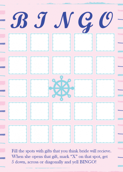 SWG3009 Personalize Wedding Game Board