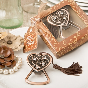 WBO2046 Antique Copper Heart Bottle Opener - As Low As RM4.00/Pc