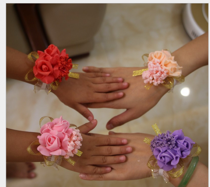 WHF1007  Color Elastic Wrist Corsage - As low as MYR3.90 / Pc