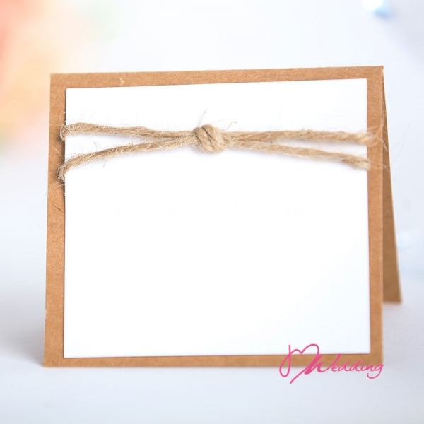 WBU2011 Simple Burlap Table Card (Natural)  - As Low As RM2.40 / Pc