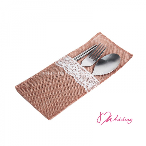 WBU2012 Burlap & Lace Pocket  Favor ( 5 Options)- As Low As RM 2.70/PC
