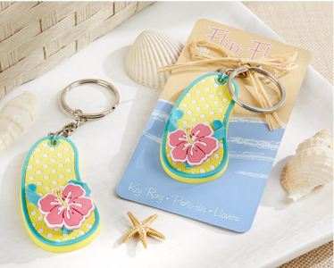 "WHR2014 ""Flip Flop"" Tropical Flower Key Ring  - As Low As RM3.70 / Pc"