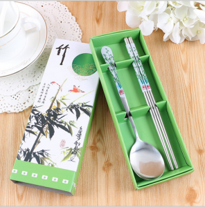 WFS2024 Bamboo Green Spoon And Chopstick - As Low As RM2.50 / Pc