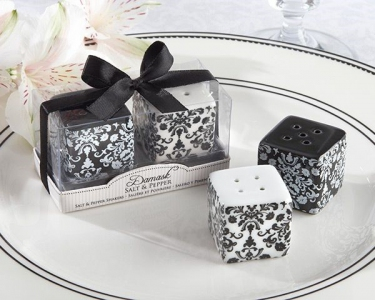 WMSB2017 Damask Ceramic Salt & Pepper Shakers - As Low As RM3.90/ Box
