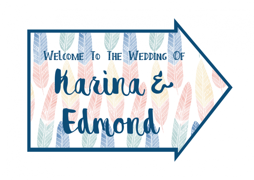 SBG3023 Personalize Bride and Groom Signs / Sign Arrow