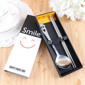 "PFS2001 ""Happy Every Day & Smile Always"" Party Spoon Set Favors - As Low As RM 2.50/pc"