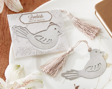 WBM2029 Lovebird Bookmark Wedding Favor