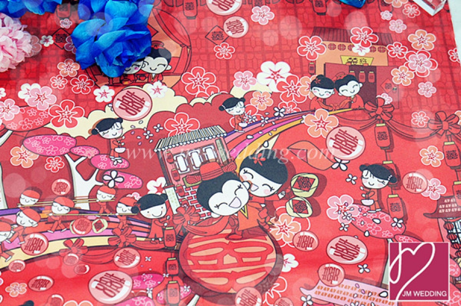 WWP1003 Red Wrapping Paper  礼物纸