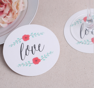 WCOA2037 Love Paper Coasters (12Pcs) - As low as RM3.00 / Set
