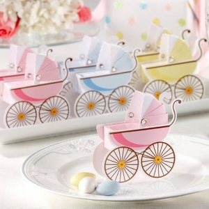 WPB2048 Classic Pram Baby Shower Favour Boxes - As low as RM0.75/ pc