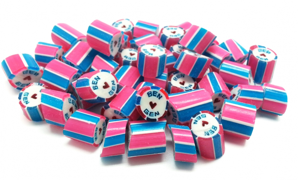 (8 Stripe) Sticky Customize Wedding & Event Candies/per 1kg pack - Min order 4kgs  (compulsory order with packaging)