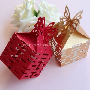 WPB2009  Double Happiness Favor Box (Red/Gold) - As low as RM0.40/pc