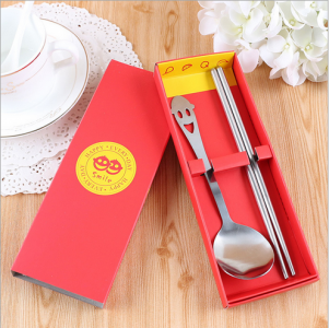 PFS2003  Red Smile Always Party Spoon Set Favors - As Low As RM 2.50/pc