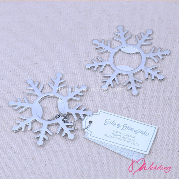 WBO2053 Silver Snowflake  Bottle Opener - As low as RM5.50 /Pc