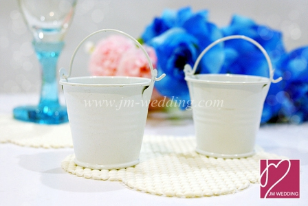 WSB2001-WH  White Miniature Tin Favor Pails - As low as RM1.40/pc