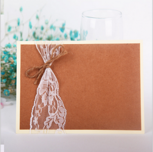 WBU2005 Lace Wedding Invitation  (Natural)  - As Low As RM3.20 / Pc