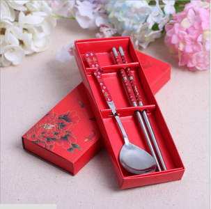 WFS2009 Red Chinese Tradition Spoon & Chopstick favor - As Low As RM 2.50 /Pc