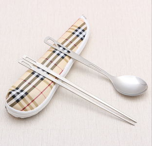 WFS2017 Portable Luxury Travel Spoon & Chopstick Favor- As Low As RM3.40 / Set