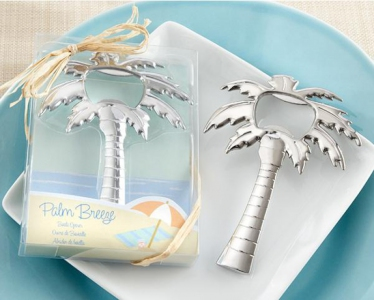 WBO2009 Shiny Chrome-finish Palm Tree Bottle Opener - As Low As RM3.20/Pc