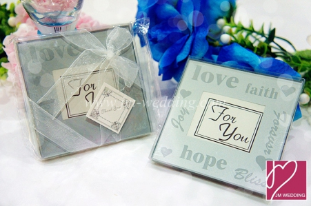 WCOA2030 Pure White Word Frosted Coasters (2 Pcs) -As Low as RM2.99/Set