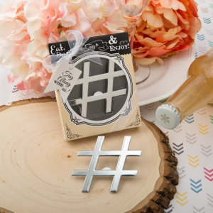 WBO2048 'Hashtag Love' Silver Metal Bottle Opener - As Low As  RM4.00/Pc