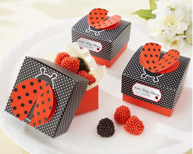 "WPB2044 ""Cute As A Bug"" 3-D Wing Ladybug Favor Box - As low as RM0.65/ pc"