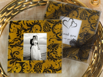 WCOA2072 A Classic Damask Gold And Black Design Photo Coasters (2Pcs)   - As low as RM2.99 /Set