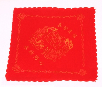 WHK1001 Red Marriage Handkerchief