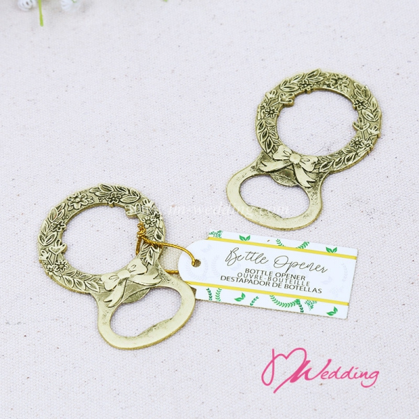 WBO2052-G Green Laurel Bottle  Opener    - As low as RM5.50 /Pc