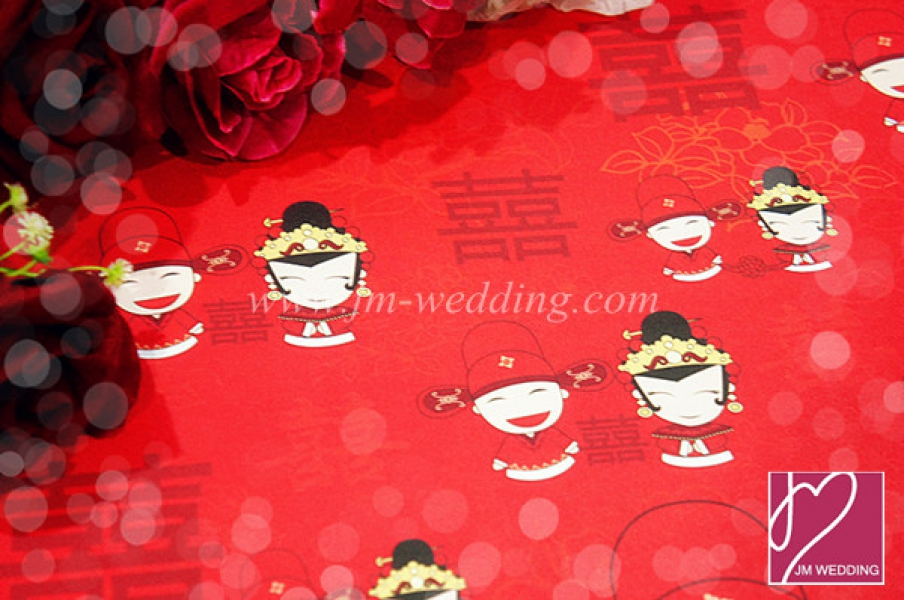 WWP1005-1 Red Wrapping Paper  礼物纸
