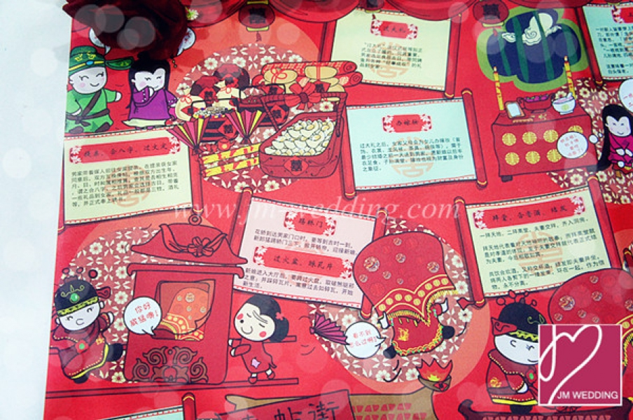 WWP1010 Red Wrapping Paper  礼物纸