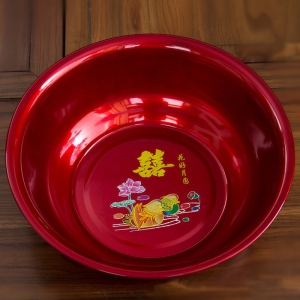 WWB1001 Classic Red Mandarin Duck Wash Basin 聚财面盆