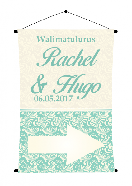 SBG3018 Personalize Bride and Groom Signs / Sign Arrow