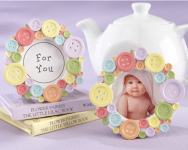 "WPF2006 ""Cute Aa A Button"" Round Photo Frame- As Low As RM4.80 /Pc"