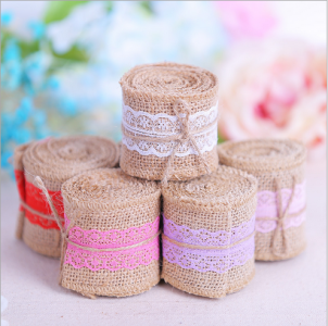 WBU2009 Lace Burlap Roll Decoration (Natural@6 Options)  - As Low As RM4.80 / Pc