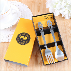 "WFS2044 ""Smile"" Cartoon Fork & Spoon Teatime Set - As Low As RM 2.20 / Set"