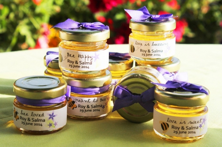 WHJ2001 Sweet Like Honey Glass Jar 25ml (Personalize sticker & Ribbon) -As Low As RM2.00 each