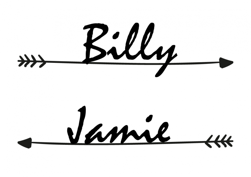 SBG3004 Personalize Bride and Groom Signs / Sign Arrow