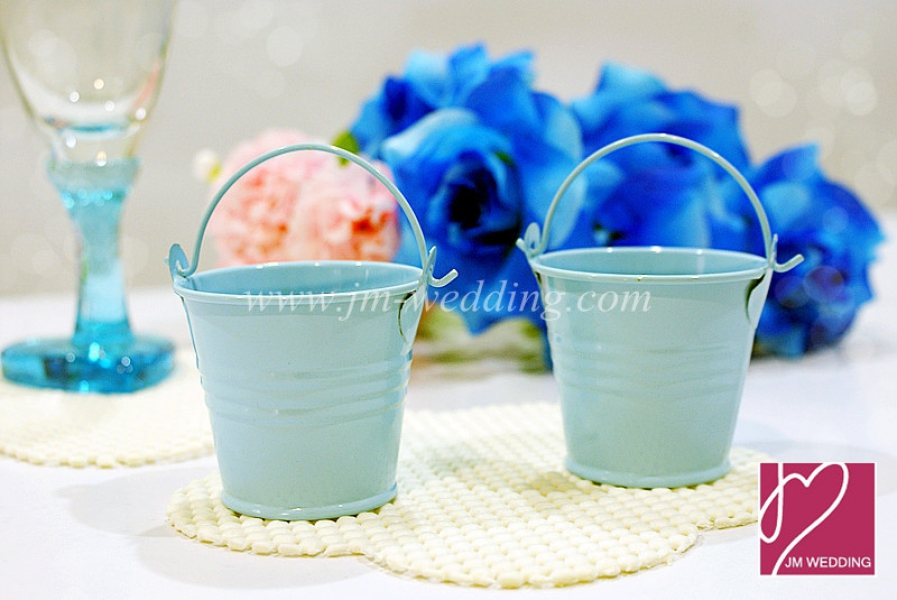WSB2001-BL Blue Miniature Tin Favor Pails - As low as RM1.40/pc