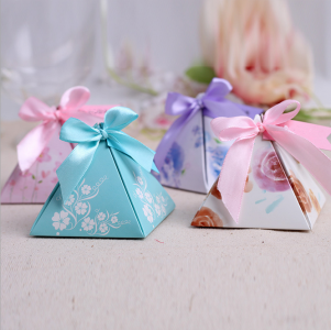 WPB2051 Customize Pyramid Colorful Favor Boxes  - As low as RM0.80/ pc