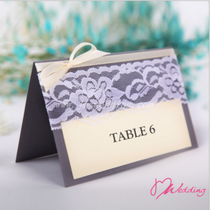 WBU2006 Black Burlap Table Card (Natural)  - As Low As RM2.40 / Pc