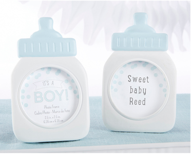"WPF2008-1 ""It's a Boy!"" Classic Blue Baby Bottle Frame - As Low As RM4.50/Pc"