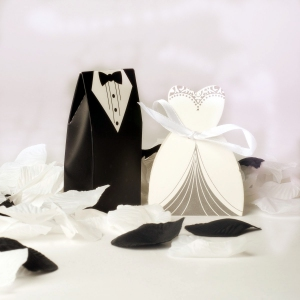 WPB2052 Bride and Groom Favor Boxes- As low as RM0.50 / pc