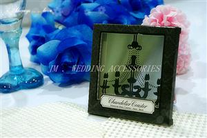 "WCOA2008 ""Chandelier"" Mirrored Glass Coaster (1 piece set) - As low as RM3.50 / Pc"