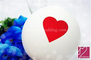 WBL1003  Red Heart White Balloons 心形气球
