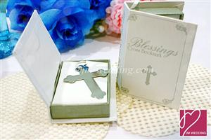 WBM2005 Blessings Cross Bookmark Favors in Bible Box - Price :RM 2.97 / Pc