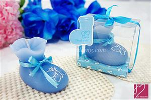 WCH2011-1 Blue Bootie Candle Favor - As Low As RM3.80 /Pc