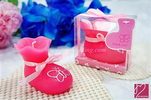 WCH2011-2 Pink Bootie Candle Favor - As Low As RM3.80 /Pc